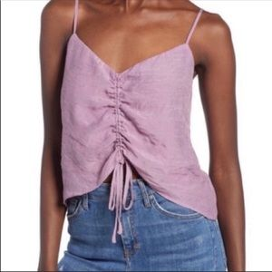 Leith Purple Lavender Drawstring Tank Top L